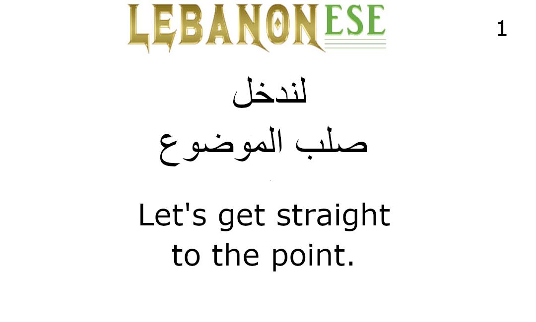 Lebanonese.org Subject Matter